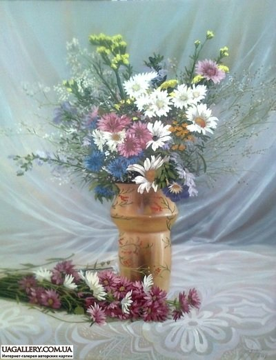 Картина «Натюрморт с цветами в вазе»