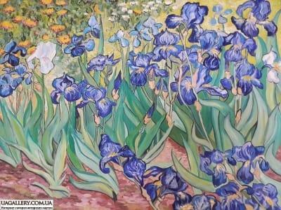 Картина «Ирисы» копия Ван Гога
