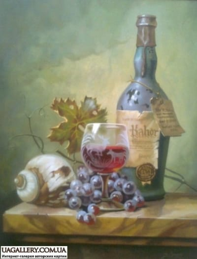 Картина «Натюрморт с вином»