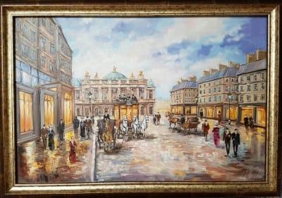 Картина «Как прекрасен вечерний город» в раме