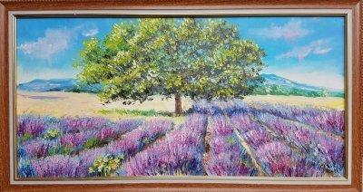Картина «Лавандовое поле» в раме