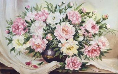 Картина «Нежность пионов» 3