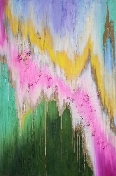 Яркая картина абстракция пейзаж «Я чувствую тебя, весна!» живопись Украина