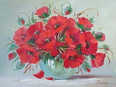 Картина цветы «Маки - прекрасен каждый лепесток» купить картину маслом в Киеве