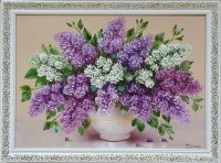 Картина маслом цветы сирень «Весенний аромат сирени» купить живопись Украина