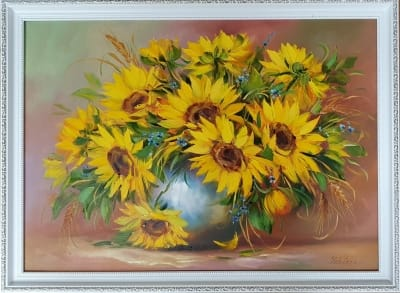 Картина цветы «Подсолнухи» купить живопись Киев