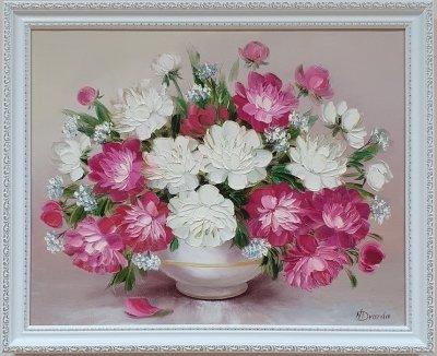 Картина маслом цветы пионы «Весенних пионов аромат...» купить живопись Украина