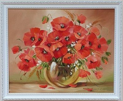 Картина маслом цветы «Маки: яркие краски лета» купить живопись Украина