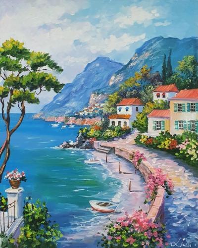 Картина «Средиземноморский пейзаж» купить живопись Украина