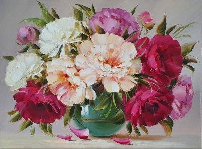 Картина «Яркий аромат весенних пионов»