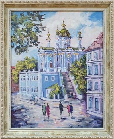 Картина маслом городской пейзаж «Виды Киева. Величественная София» купить современную живопись