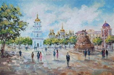 Картина киевский пейзаж «Виды Киева. София» купить картину маслом Украина