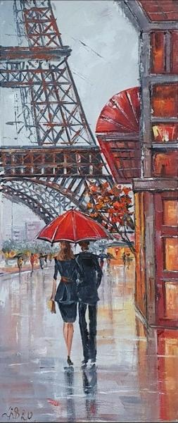 Картина маслом Париж «Париж. Яркие воспоминания» купить картину Киев