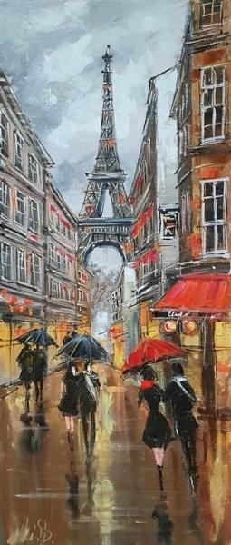 Картина маслом Париж «Париж. Яркие воспоминания» купить картину Украина