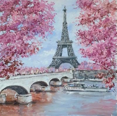 Картина маслом Париж «Весна в Париже» купить картину Украина