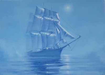 Картина море «Голубая мечта» купить современную живопись Киев