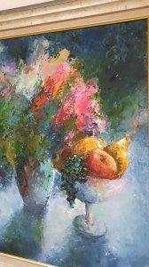 Картина маслом натюрморт «Сладкий вкус лета» купить живопись Киев