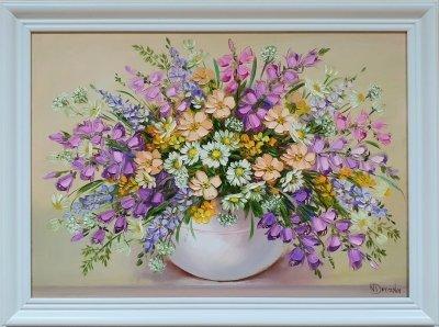 Картина маслом полевые цветы «Полевые цветы» купить живопись Украина