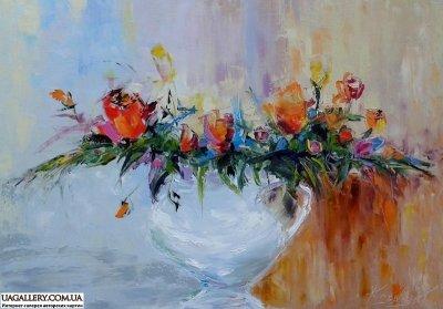 Картина «В цветах душа и жизнь и вдохновенье»
