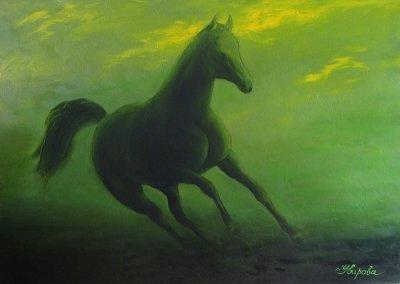 Картина «Зеленая лошадь»