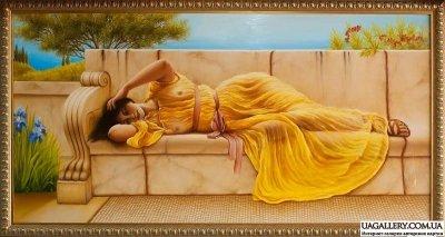 Картина «Девушка в желтом» копия Годварда