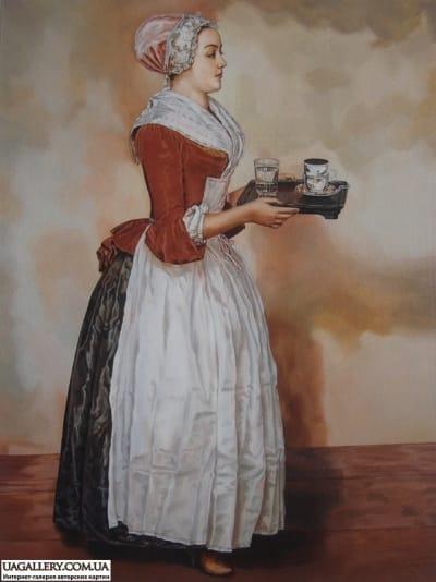 Картина «Шоколадница» копия Лиотара