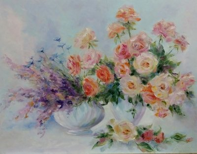 Картина «Когда цветут, благоухая, розы»