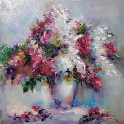 Картина «Сирень, гроздья душистые»