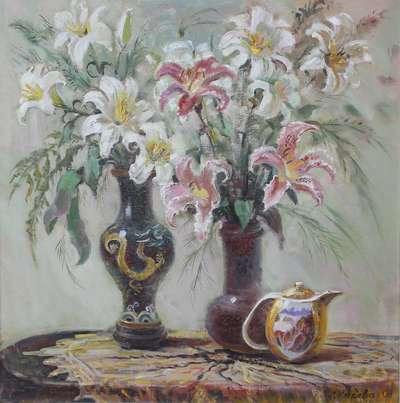 Картина «Натюрморт с лилиями»