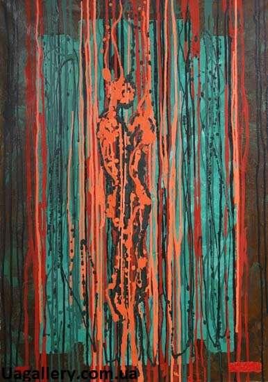 Абстрактная картина «Что-то похожее а любовь»