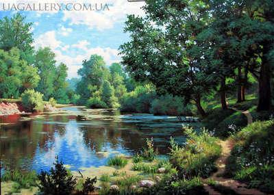 Картина пейзаж Лес