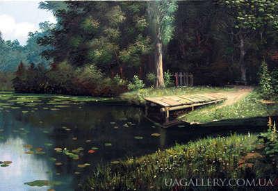 Картина пейзаж Озеро