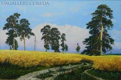 Картина «Рожь» копия Шишкина