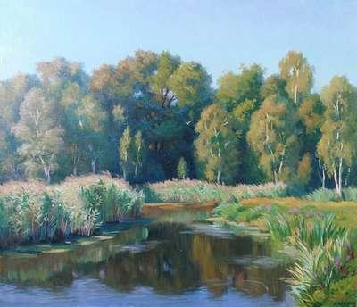 Картина «Лесное озеро»