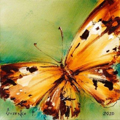 Картина маслом «Бабочка» купить живопись для современных интерьеров Киев