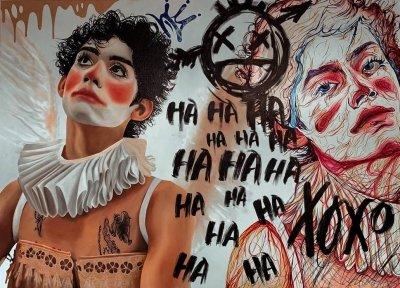 Картина «Circus» купить живопись для современных интерьеров Украина