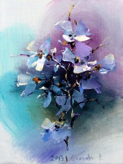 Картина маслом цветы «Цветки яблони» купить живопись для современных интерьеров Киев