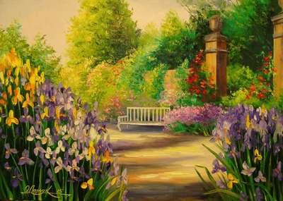 Картина «Цветущая аллея»