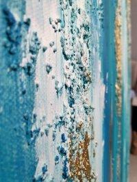 Картина абстракция для современных интерьеров «Доминикана» купить живопись Киев
