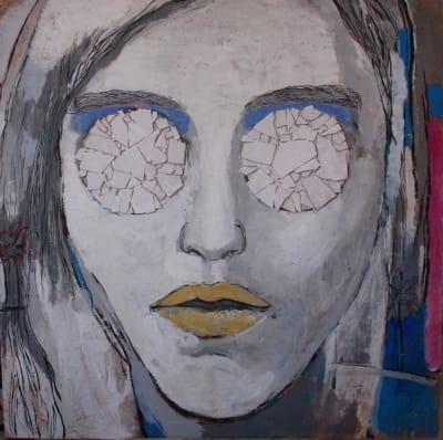 Картина для современных интерьеров серия «Glassed Madonna 3» купить живопись Киев