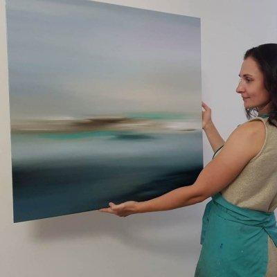 Абстрактная картина «Чистые воспоминания» купить картину для современного интерьера