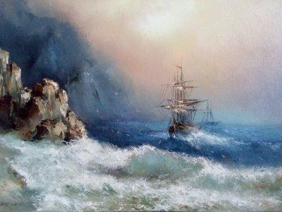 Картина маслом морской пейзаж «Морской пейзаж» купить картину Киев