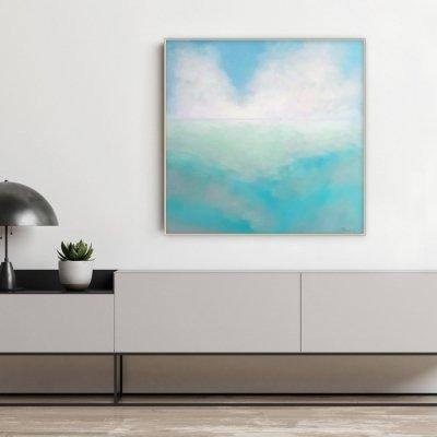 Абстрактное море «Tender Deep Vibes» купить живопись для современного интерьера