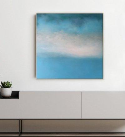 Картина маслом пейзаж морской «Tender Deep Vibes» купить живопись Киев