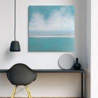 Картина маслом морской пейзаж «Tender Deep Vibes» купить живопись Киев