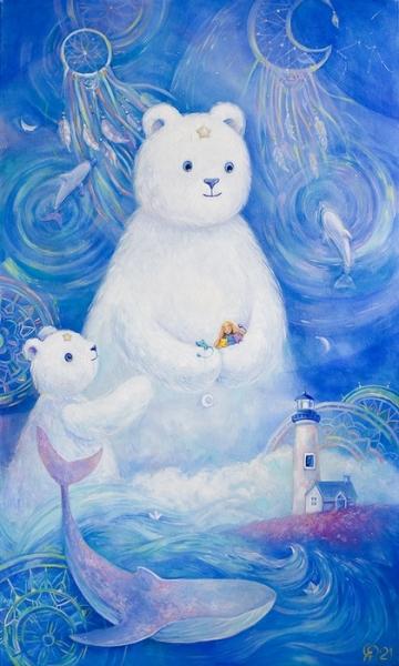 Картина детям «Колыбельная» купить картину маслом Киев