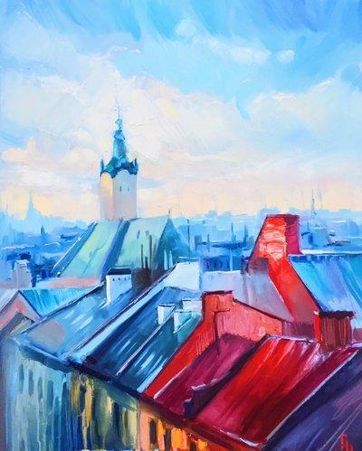 Картина «Львовские крыши»