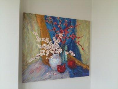 Картина маслом натюрморт «Гранат»