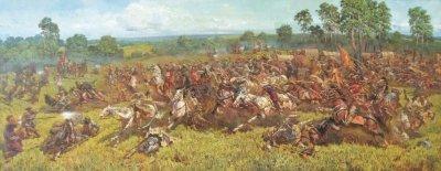 Картина маслом исторический пейзаж «Отаман Сирко» купить живопись для современных интерьеров Киев