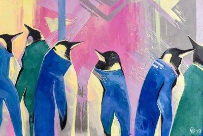 Картина для детской комнаты «Пингвины. Новая Зеландия» купить картину маслом Киев